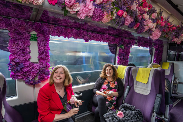 Blooms on board as Heathrow Express celebrates Chelsea Flower Show
