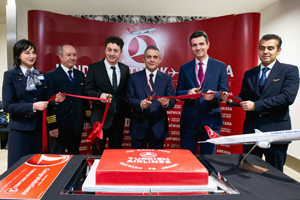 Direct air link with Ankara takes off from Gatwick