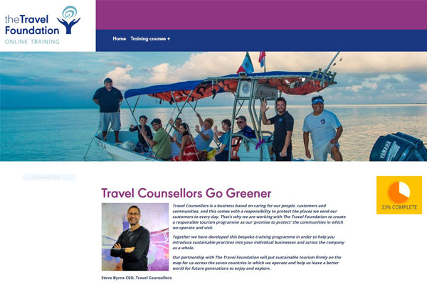 Travel Counsellors launches sustainable tourism training programme