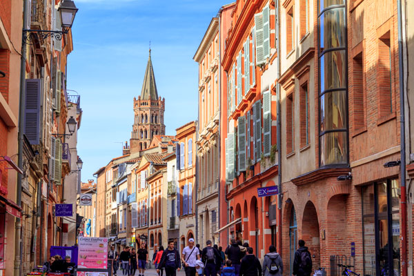 Exploring historic Toulouse in southern France