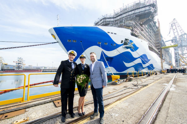 Princess Cruises marks construction milestones for three new ships