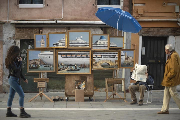 Banksy wades into Venice overtourism debate with new artwork