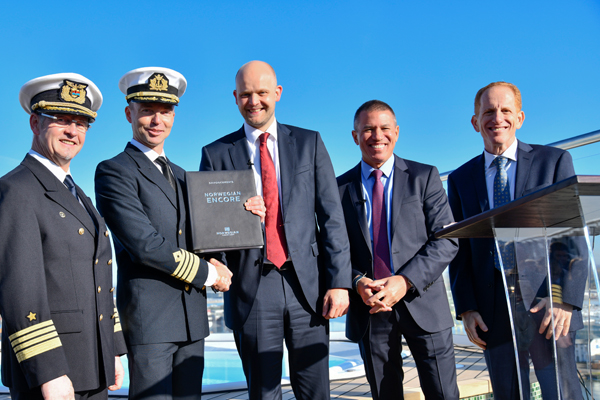 NCL takes delivery of new ship Norwegian Encore