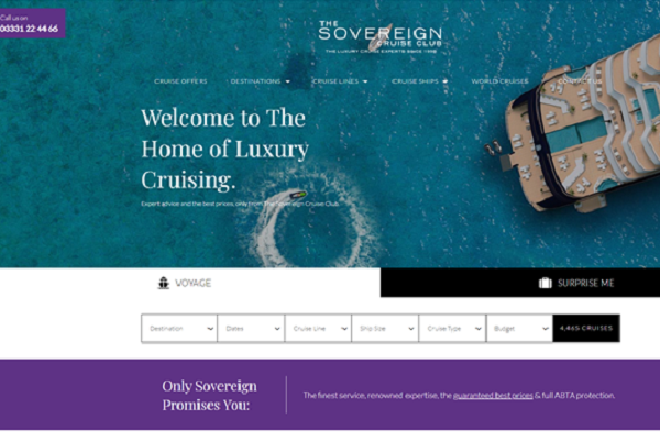 Sovereign Cruise Club revamps website