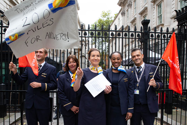 Ex-Thomas Cook cabin crew member completes 200 mile 'walk for justice'