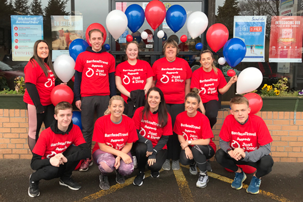 Barrhead Travel charity run helps raise Just a Drop funds