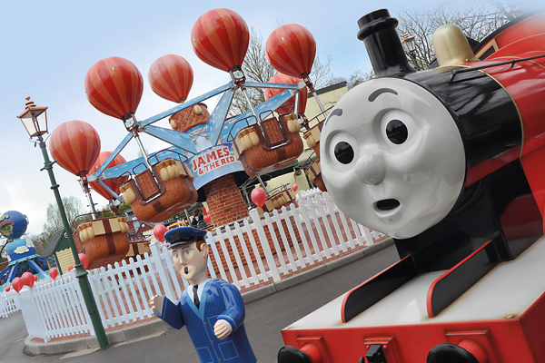 A gentle theme park experience for toddlers at Thomas Land
