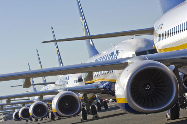 Ryanair claims to be 'greenest airline'