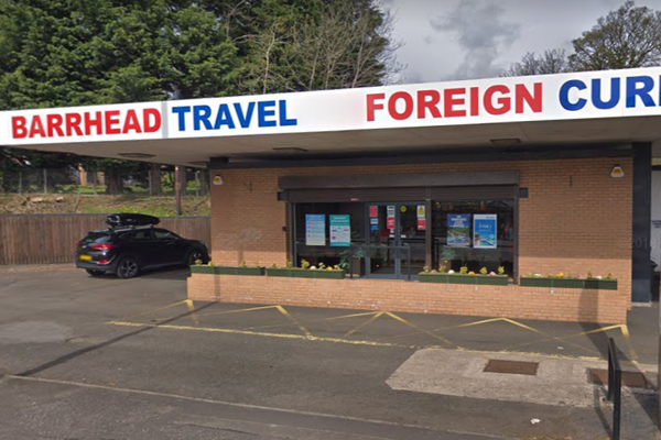 Barrhead Travel store raided by masked knifeman