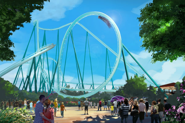 Construction begins on record-breaking SeaWorld rollercoaster