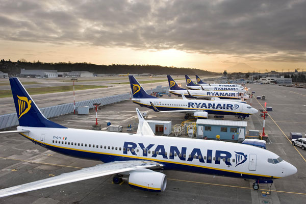Ryanair reports 9% increase in passenger numbers in July