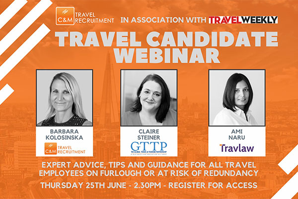 Travel industry staff should 'not give up' job hopes