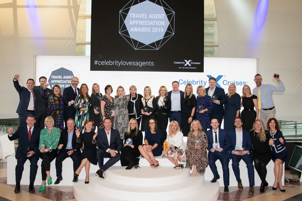 Winners of Celebrity Cruises' Travel Agent Achievement Awards announced