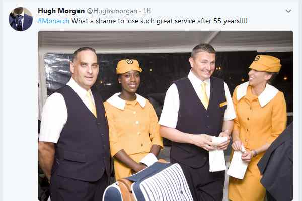 Monarch failure: Industry reacts on social media