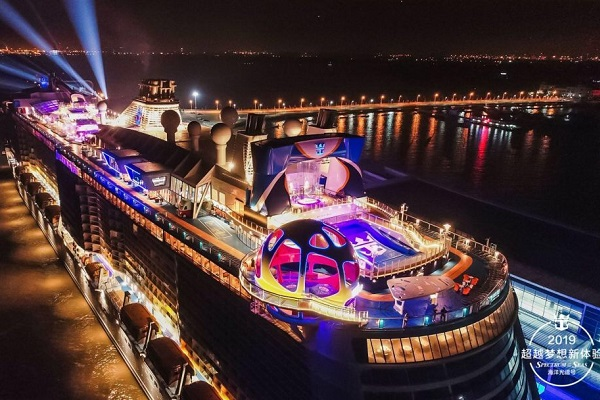 Spectrum of the Seas christened in Shanghai