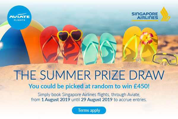 Book Singapore Airlines through Aviate and win £450 this summer!