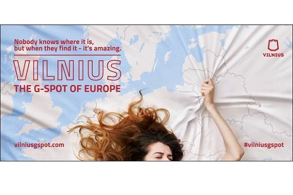 Vilnius 'G-Spot of Europe' ad complaint rejected