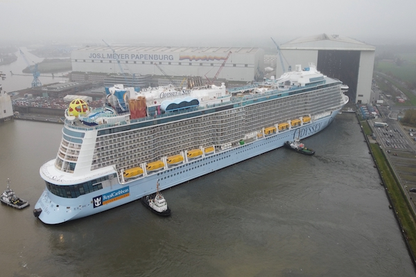 Royal Caribbean floats out Odyssey of the Seas