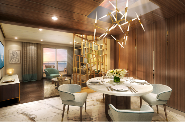 Sky Suite Dining Room, Sky Princess, September 2019