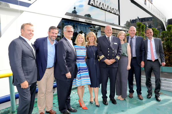 AmaWaterways christens Europe's biggest river ship AmaMagna