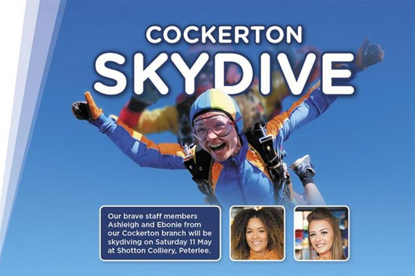 Skydiving agents jump for charity