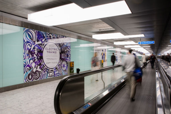 Rubbish turned into art for Heathrow Express promotion