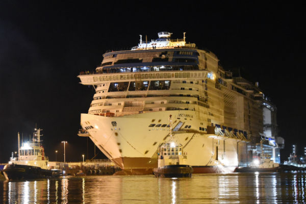Latest MSC Cruises ship floated out at shipyard