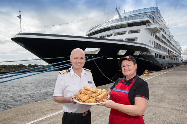 Greggs sausage roll anyone? Azamara guests get a taste of the north east
