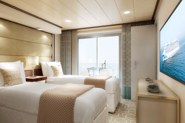 Sky Suite Second Bedroom, Sky Princess, September 2019