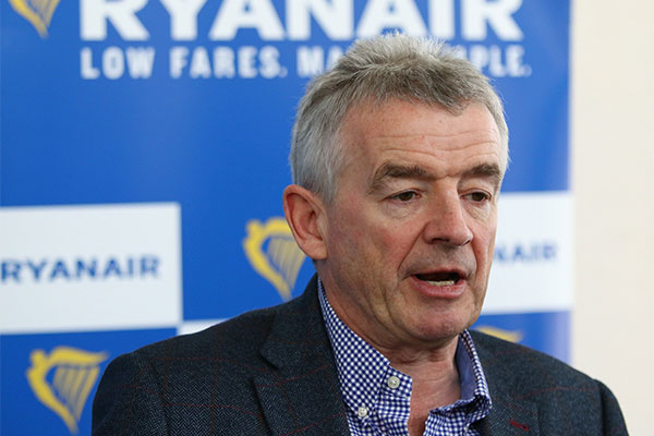 Ryanair reduces annual passenger target by 10 million