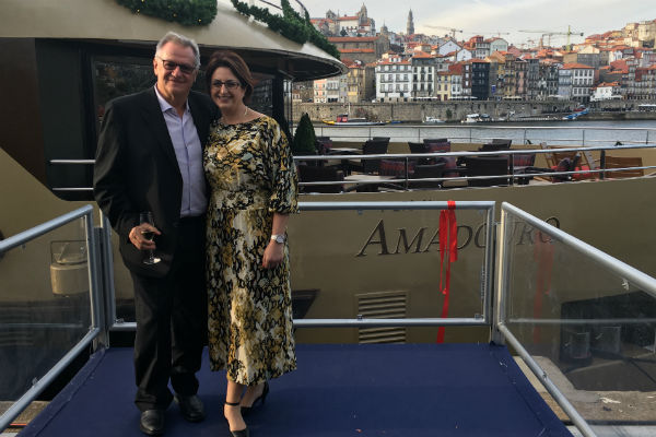 Advantage boss christens AmaWaterways ship