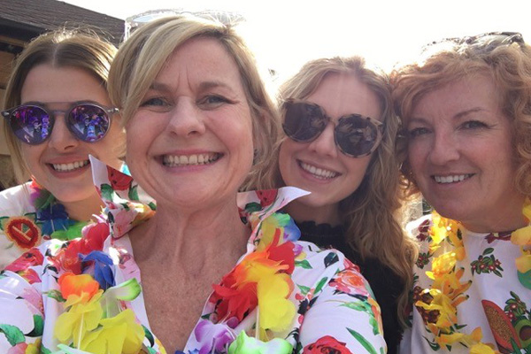 Not Just Travel agent opens office with Hawaiian-themed party