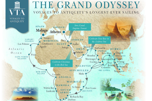 Voyages to Antiquity issues agent infographic for 129-day 'grand odyssey'