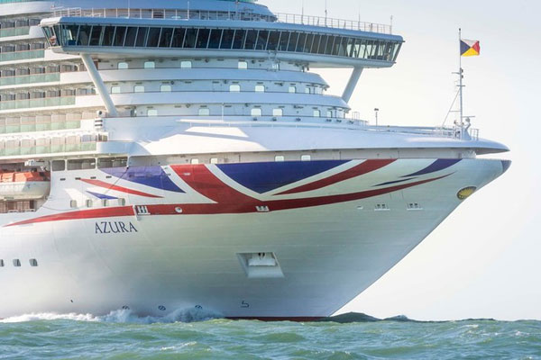 P&O Cruises' Azura ship to enter dry dock