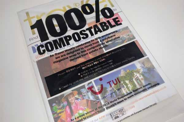 Travel Weekly now delivered in fully-compostable packaging