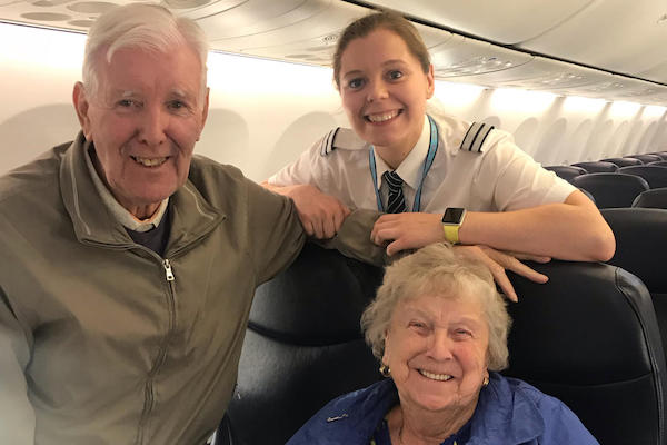 Tui pilot engineers a surprise welcome for her grandparents