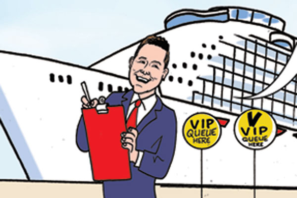 Royal Caribbean's UK boss stars in Beano comic book strip