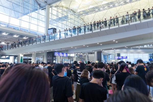 UPDATE: Flights departing Hong Kong airport cancelled amid protests