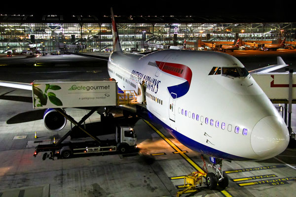 What goes into a British Airways Boeing 747? [Infographic]