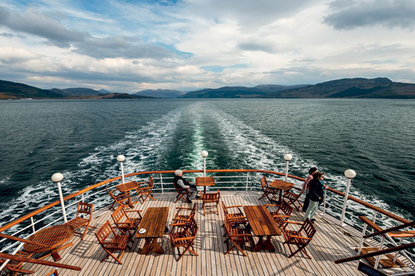 Sailing around Scotland on Hebridean Princess