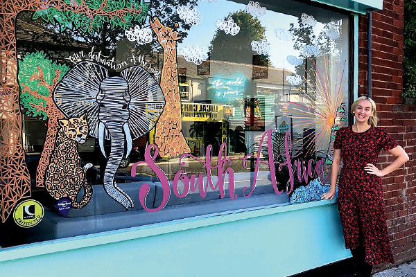 Footprint Travel hopes clients will go wild for window display