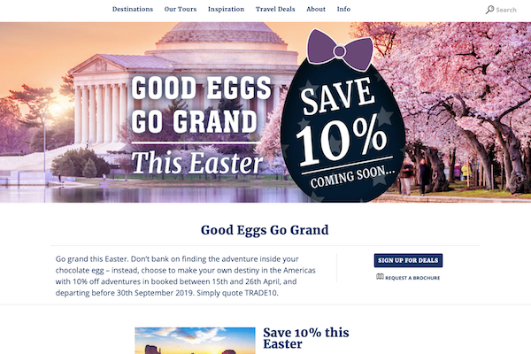 Grand American Adventures to launch Easter sale