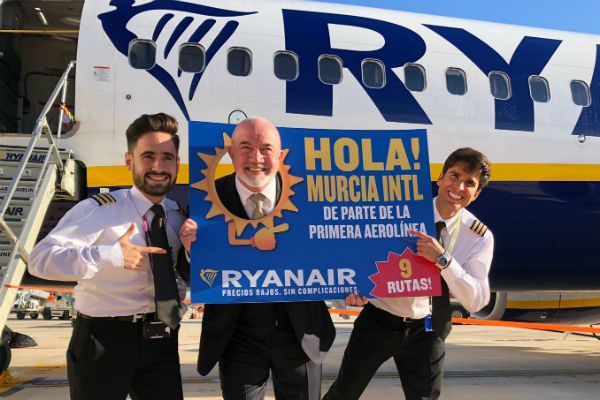 Ryanair first to touch down at new Spanish airport