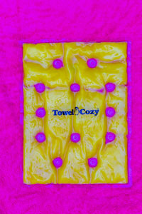 Towel Cozy competition text image