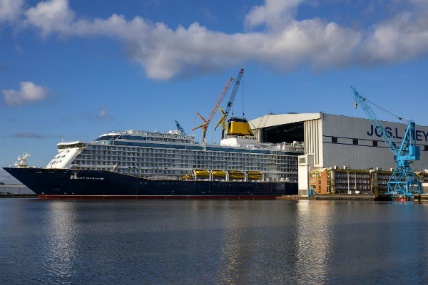 New Saga Cruises ship emerges for first time