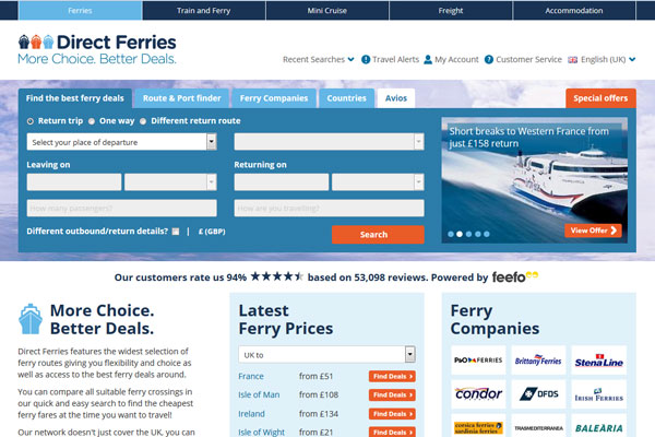 Direct Ferries secures private equity backing | Travel Weekly