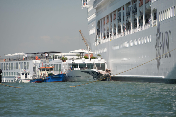 Uniworld sues MSC Cruises for damages after Venice collision