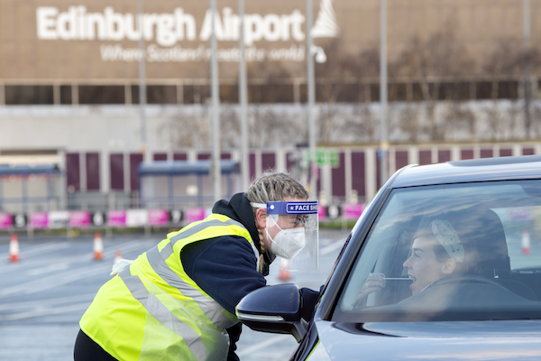 First Scottish airport Covid testing site opens