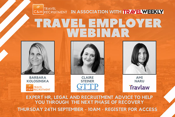 C&M Travel Recruitment to host second advice webinar for the trade