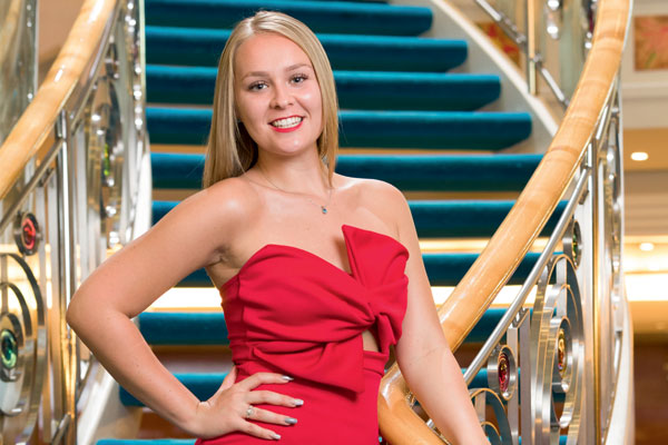 Cover Stars: 20-year-old Bethany Brandwood has already taken 40 cruises